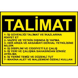 Talimat Levhası