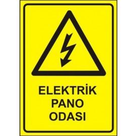Elektrik Pano Odası Levhası